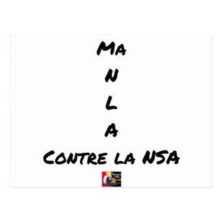 MY NR L A AGAINST the NSA - Word games Postcard