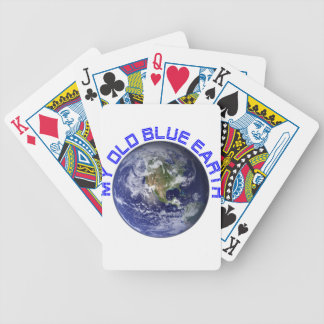 MY OLD BLUE EARTH BICYCLE PLAYING CARDS