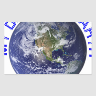 MY OLD BLUE EARTH RECTANGULAR STICKER