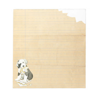 My Old English Sheepdog Ate My Homework Notepad