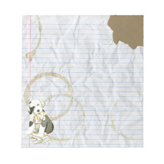 My Old English Sheepdog Ate my Lesson Plan Notepad