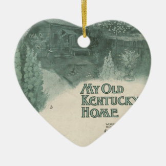 My Old Kentucky Home Ceramic Ornament