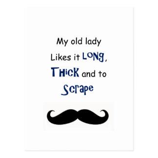 My old lady postcard