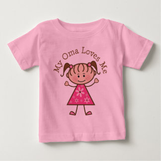 My Oma Loves Me Stick Figure Baby T-Shirt