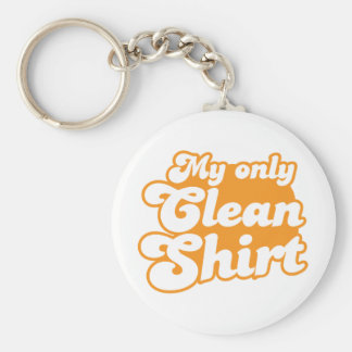 My only clean shirt keychain