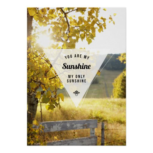My Only Sunshine Inspirational Poster