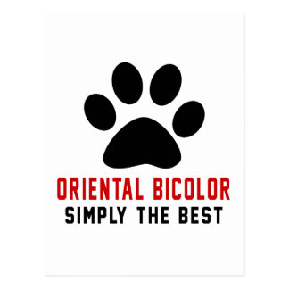 My Oriental Bicolor Simply The Best Postcard