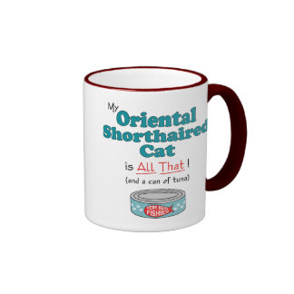 My Oriental Shorthaired Cat is All That! Ringer Mug