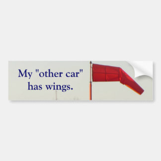 """My """"other car"""" has wings bumper sticker"""