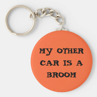 my other car is a broom key ring