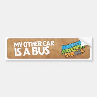 My Other Car Is A Bus Buper Sticker Bumper Sticker
