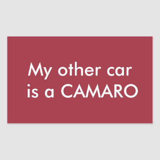 my other car is a camaro rectangular sticker