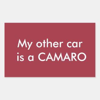 my other car is a camaro rectangular sticker