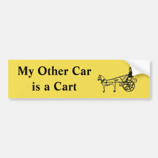 My Other Car is a Cart Bumper Sticker