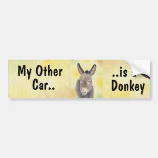 My Other Car is a Donkey bumper sticker