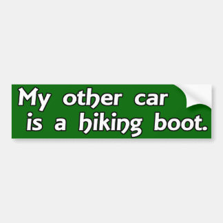 My Other Car is a Hiking Boot Bumper Stickers