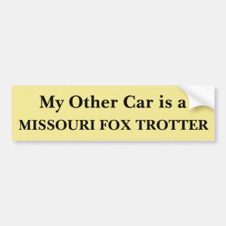 My Other Car is a Missouri Fox Trotter Bumper Sticker