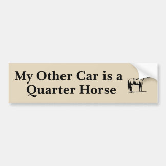 My Other Car is a Quarter Horse Bumper Sticker