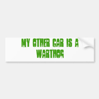 My other car is a warthog bumper sticker