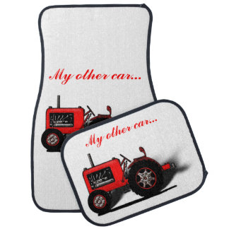 My Other Car... (Tractor Image or Your Photo) Car Mat