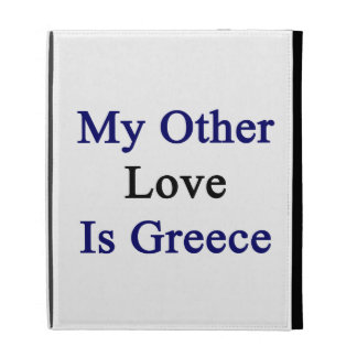 My Other Love Is Greece iPad Cases