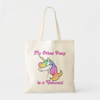 My other pony is a Unicorn tote bag