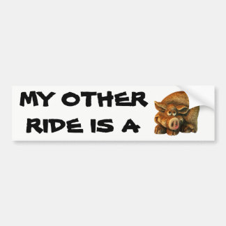 My Other Ride is A Hog Bumper Sticker