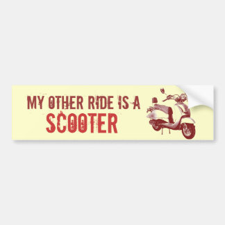 My other ride is a SCOOTER Bumper Sticker