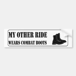 My Other Ride Wears Combat Boots Bumper Sticker