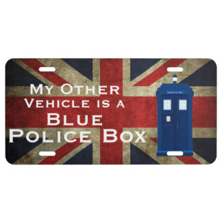 My other vehicle is a blue police box Union Jack