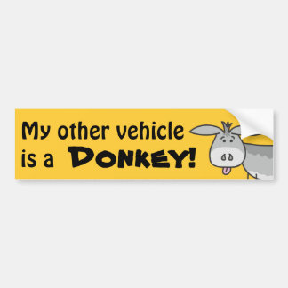My Other Vehicle is a Donkey Bumper Sticker