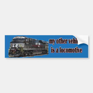 My Other Vehicle Is a Locomotive NS Bumper Sticker