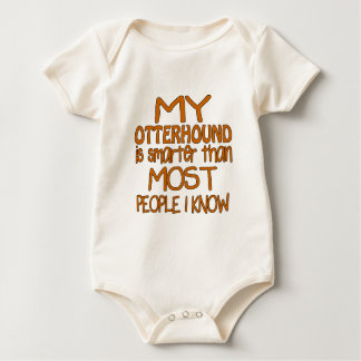 MY OTTERHOUND IS SMARTER THAN MOST PEOPLE I KNOW BABY BODYSUIT