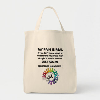 My Pain Is Real Tote Bag