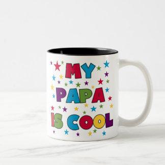 My Papa is Cool Two-Tone Coffee Mug