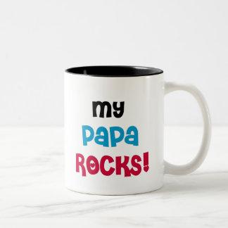 My Papa Rocks Two-Tone Coffee Mug
