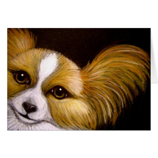 MY PAPILLON DOG CUSTOMIZE Card