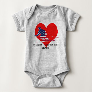 My parents plows the best skiers baby bodysuit