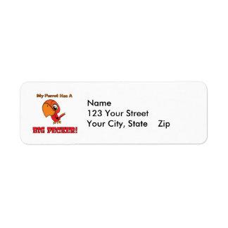 My Parrot Has a Big Pecker Return Address Label