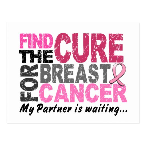 My Partner is Waiting Breast Cancer Postcards