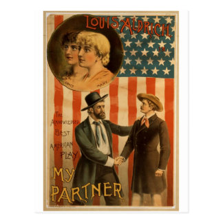 My Partner, 'Louis Aldrich' Vintage Theater Postcards