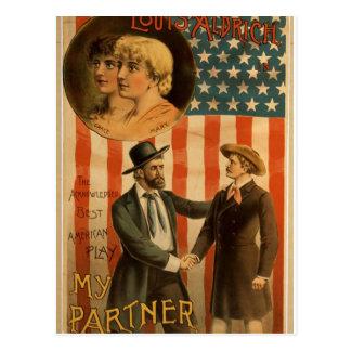 My Partner Louis Aldrich Vintage Theater Post Card