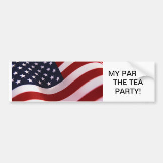 MY PARTY! THE TEA PARTY! BUMPER STICKER