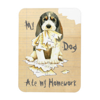 My PBGV Ate My Homework Rectangular Photo Magnet