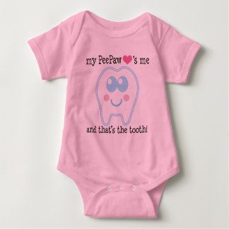 My Peepaw Loves Me Tooth Baby Bodysuit