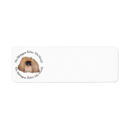 My Pekingese Rules My World Return Address Label