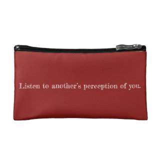 My Perception Quote Cosmetic Bag