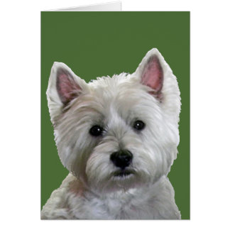 MY PERFECT WESTIE GREETING CARD