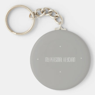 My personal basic button keychain