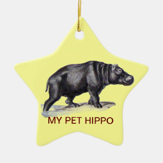 MY PET HIPPO CHRISTMAS TREE ORNAMENTS